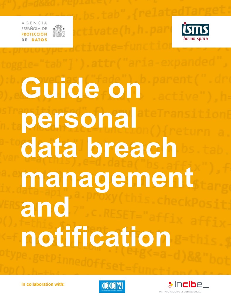 guide on personal data breach