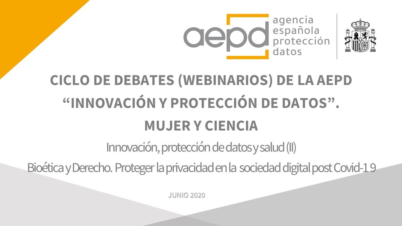 Webinario 'Innovación, protección de datos y salud (II)'